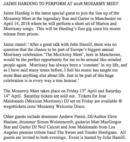 Jaime Harding to perform at MozArmyMeet 2018 Manchester